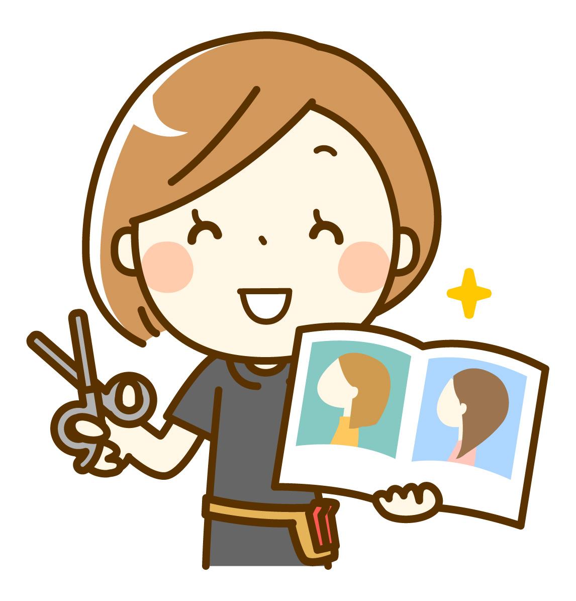美容師の鈴木です。